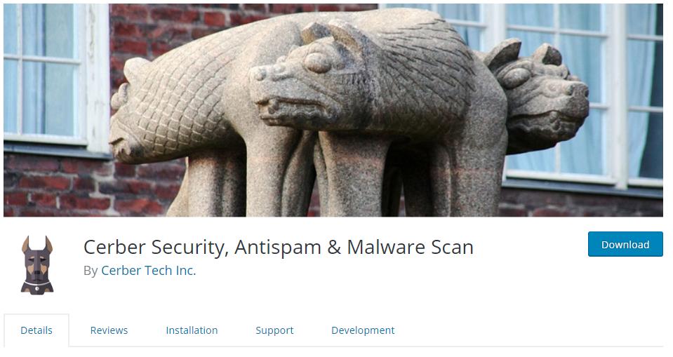 Cerber Security Plugin Screenshot