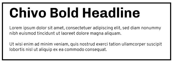 Chivo Bold Heading Overpass Light Copy Font Example