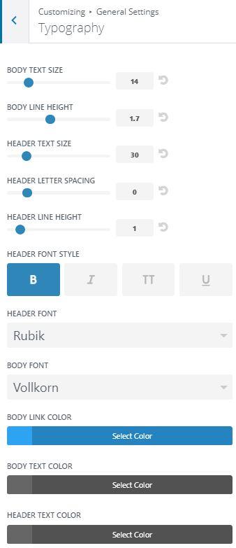 Divi Typography Options
