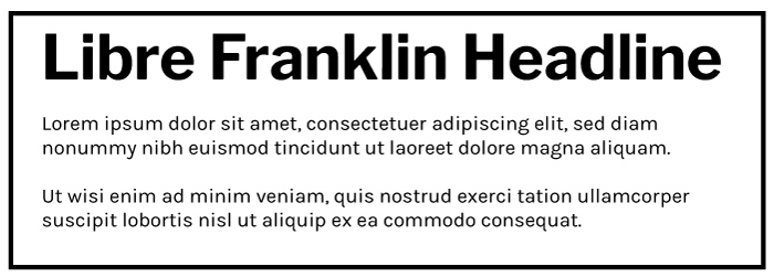 Libre Franklin Heading Karla Regular Copy Font Example