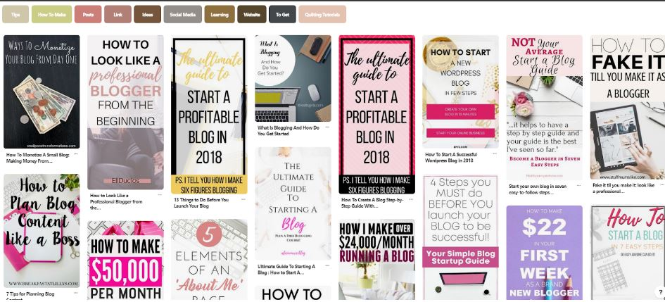 Pinterest How to Blog Color Screenshot