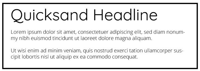Quicksand Heading Ubuntu Copy Font Example