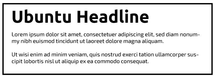 Ubuntu Heading Exo 2 Copy Font Example