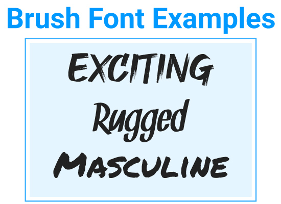 Brush Font Examples