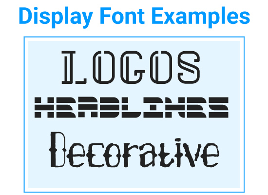 Display Font Examples