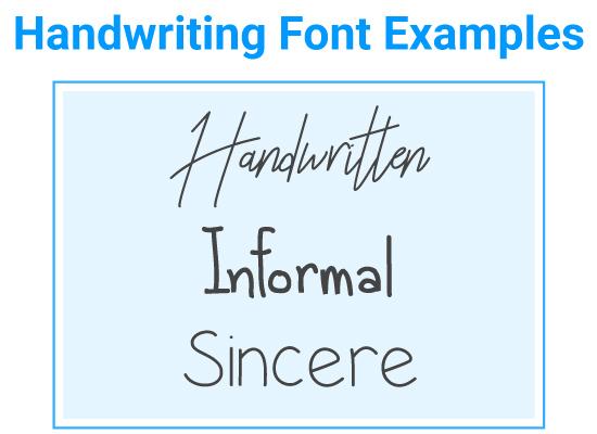 Handwriting Font Examples