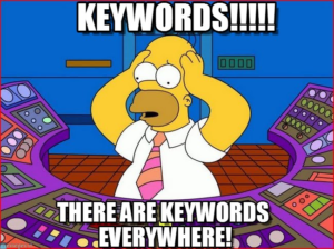 There are keywords everywhere simpsons meme