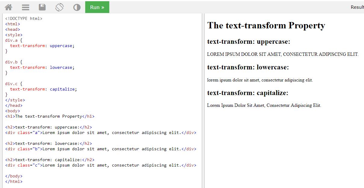 Text-transform Example