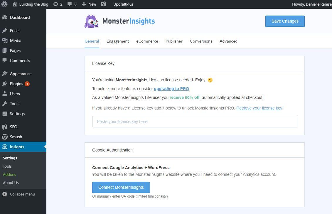 Monster Insights Screenshot