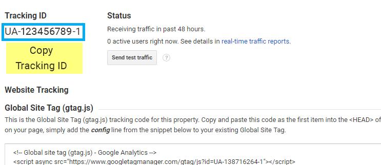 Tracking ID Google Analytics