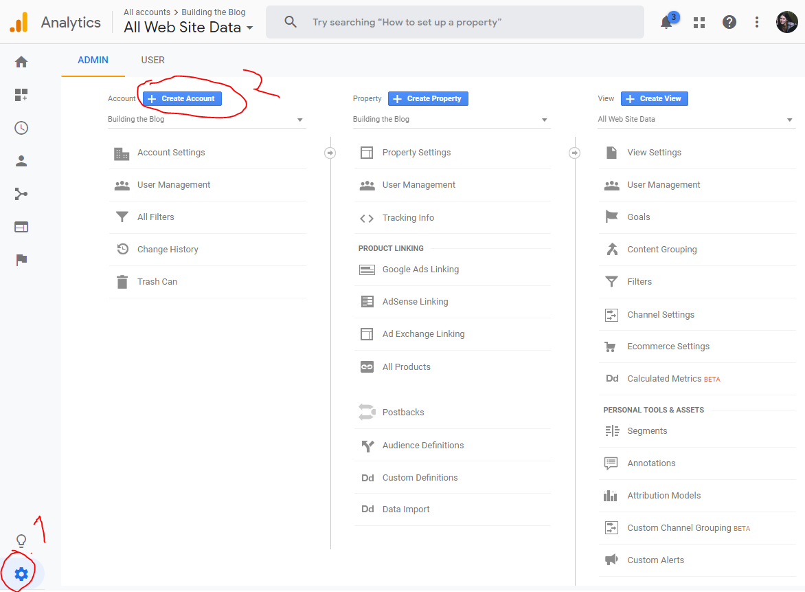 How to add website to existing Google Analytics