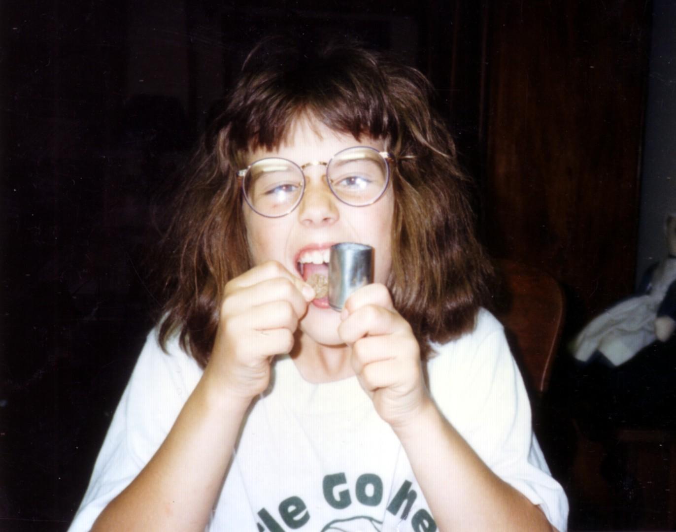 Kid Danielle doing a Science Experiment Again