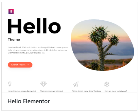 Elementor Recommended Theme