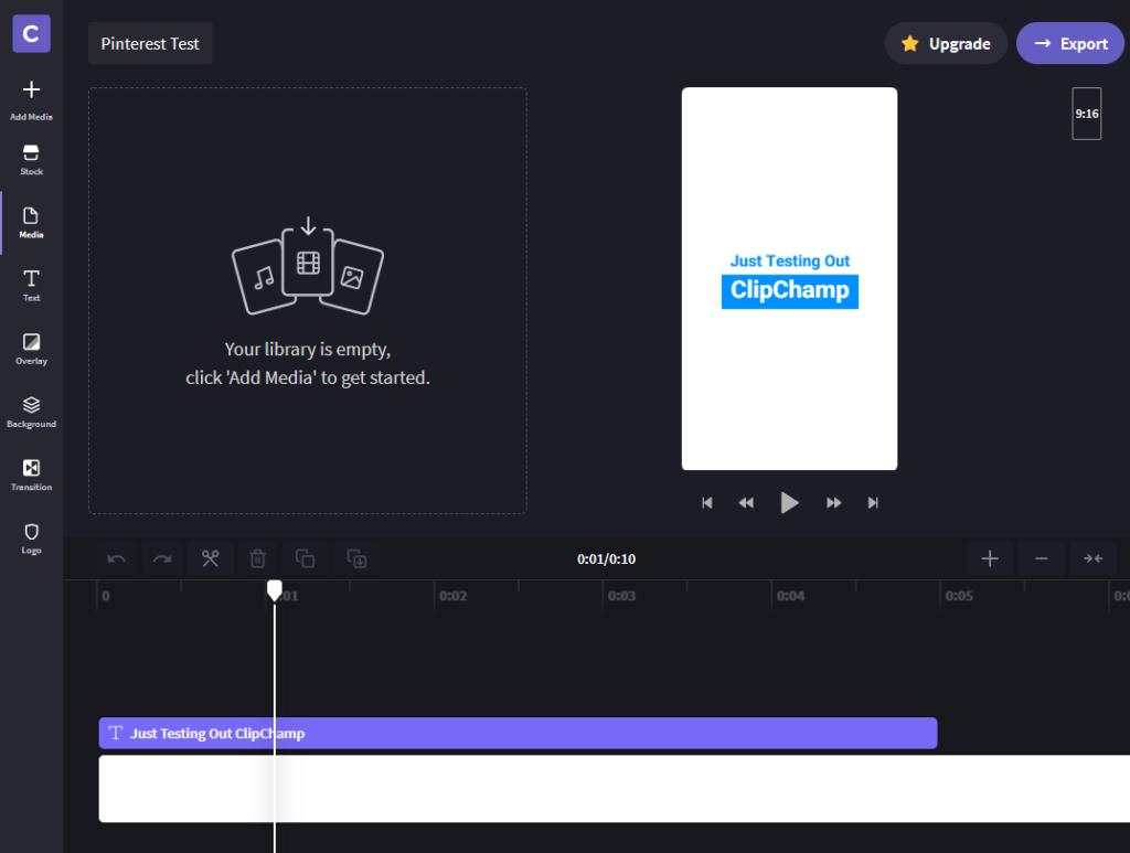 ClipChamp Screenshot