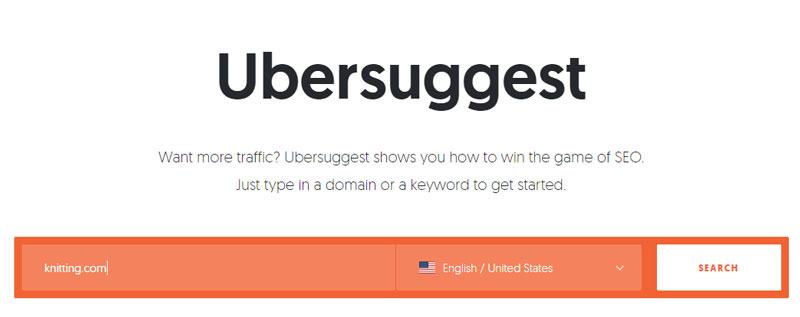 ubersuggest screenshot domain example