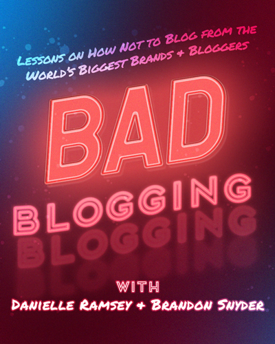 Bad Blogging Cover Art Photoshop Example
