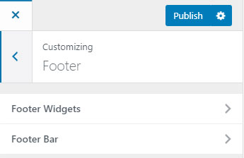 Astra WordPress Footer Options Screenshot