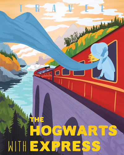 Hogwarts Express Poster Photoshop Example