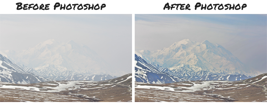 Photoshop photo enhancement example