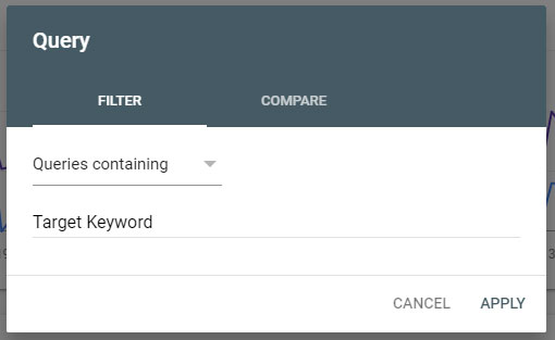 Query Filter Google Search Console