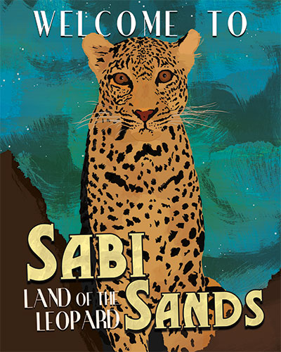 Sabi Sands Travel Poster Photoshop Example